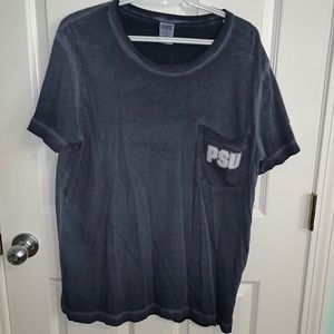 VS PINK PSU Faded Campus Tee